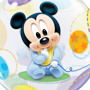 Baby Mickey Mouse Bubble Balloon | Free Delivery